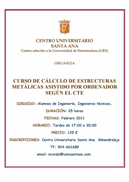 Cartel curso CYPE 1011 red